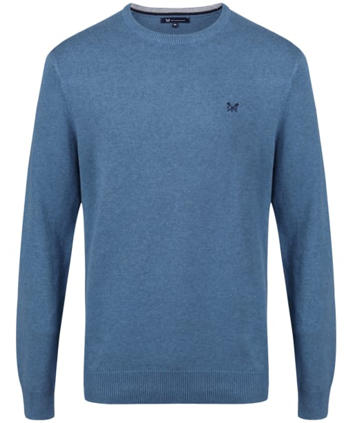 Men's Crew Clothing Foxley Crew Neck Sweater - Heritage Blue Marine