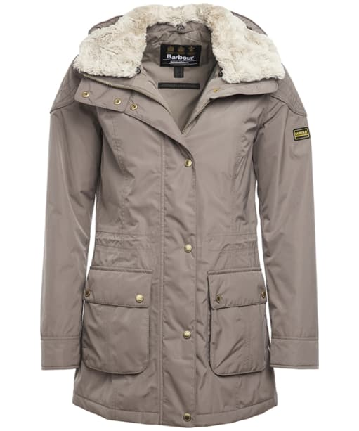 Women's Barbour International Garrison Waterproof Jacket - Taupe