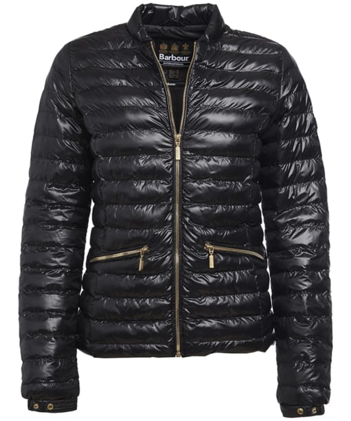 Women's Barbour International Lapper Quilted Jacket - Black