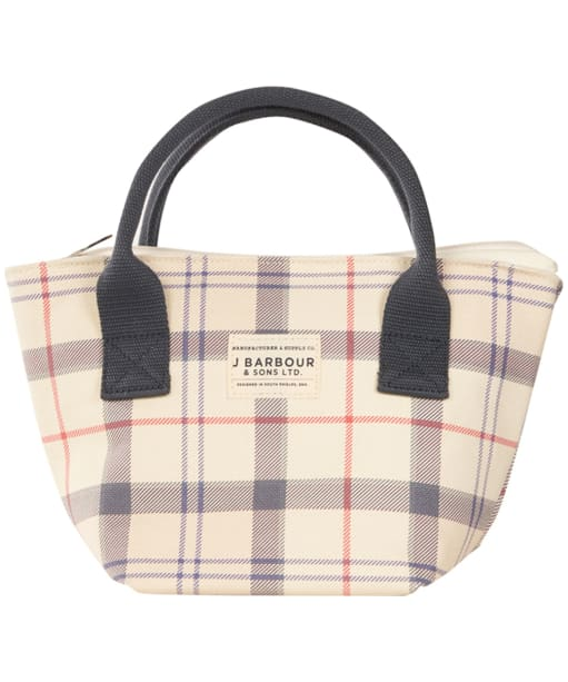 Women's Barbour Leathen Tote Bag - Summer Tartan