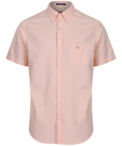 Men's GANT Short Sleeved Oxford Shirt - Papaya Orange