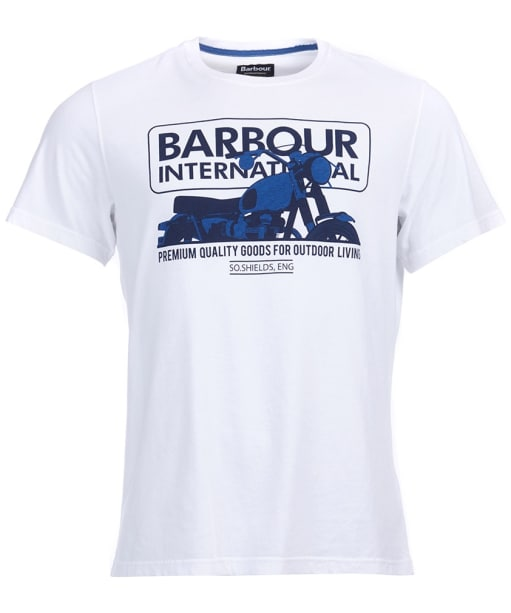 Mens Barbour International Hydron Tee - White