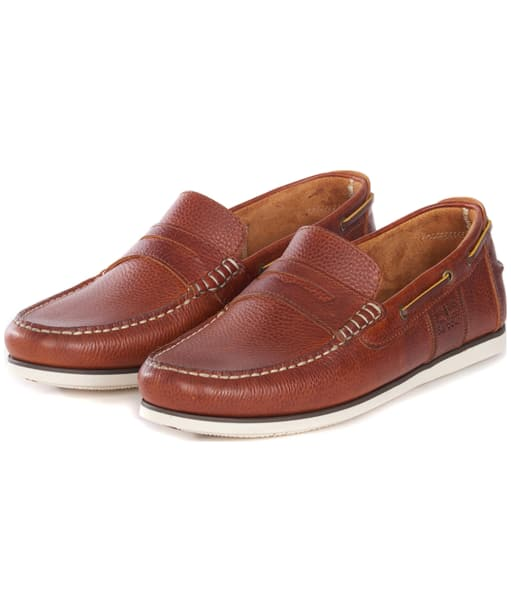 Men's Barbour Keel Boat Shoes - Cognac