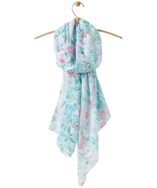 Women's Joules Wensley Scarf - Bright White Garden