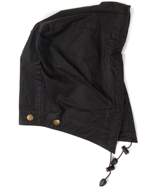Barbour Lightweight Wax Hood - Dark Olive