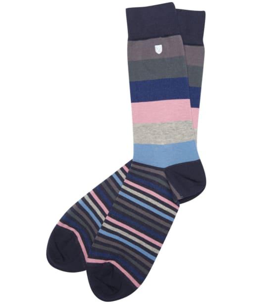 Men's Barbour Heywood Socks - Navy / Pink