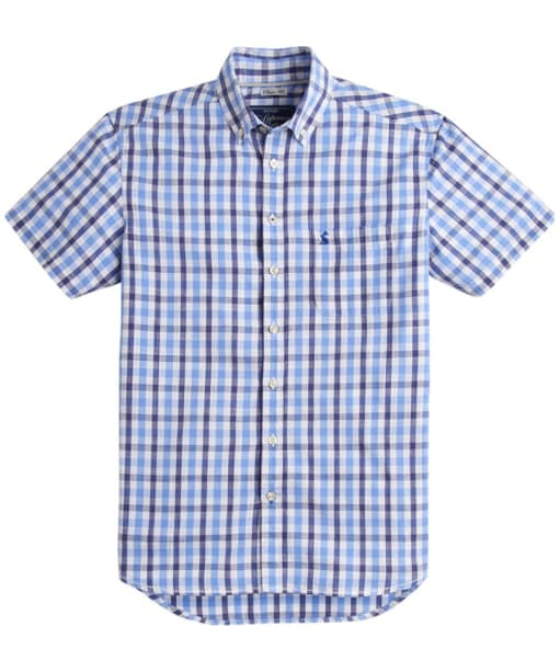 Men's Joules Short Sleeve Wilson Shirt - Blue Gingham