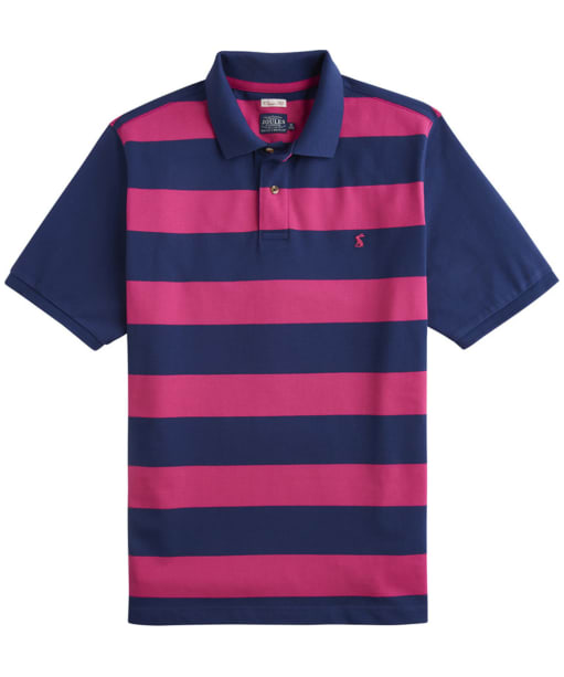 Men's Joules Filbert Polo Shirt - Navy / Pink Stripe