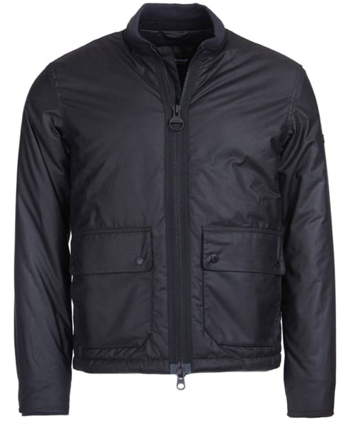 Men's Barbour International Injection Wax Jacket - Black