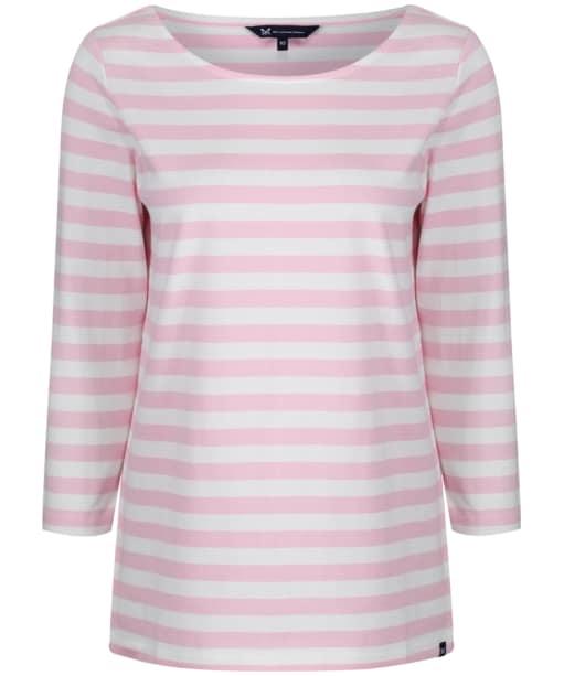 Women's Crew Clothing Ultimate Breton - White Linen / Classic Pink