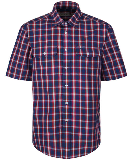 Men's R.M. Williams Fraser Shirt - Navy / Red / White