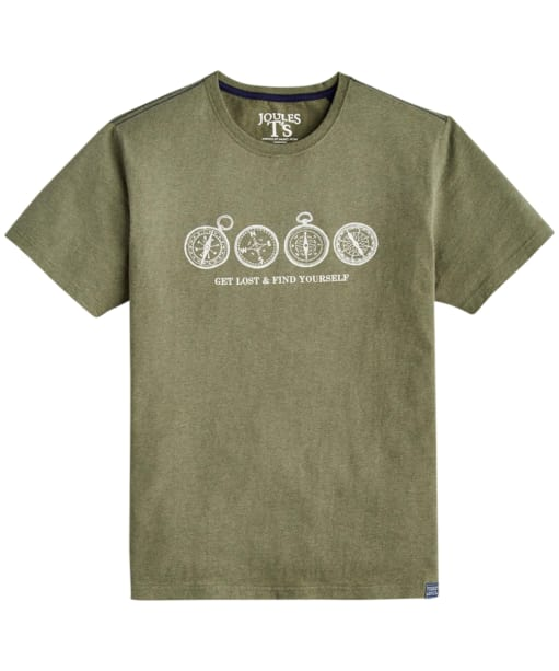 Men's Joules Graphic Print Tee - Khaki Marl