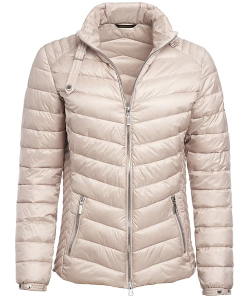 Women's Barbour International Triple Quilted Jacket - Pale Pink