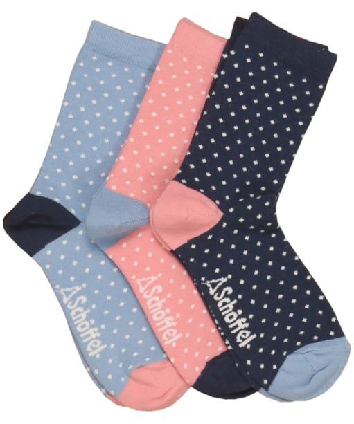 Women's Schoffel Polzeath Socks - White Dot Mix