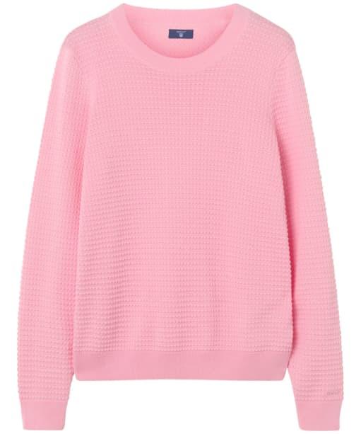 Women's GANT Piqué Textured Crew Sweater - Shadow Rose
