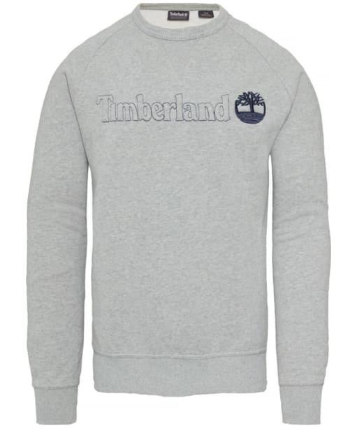 Men's Timberland Exeter River Logo Crew Sweater - Grey Heather