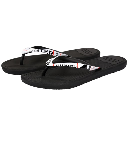 Men's Hunter Original Exploded Logo Flip Flop - Black
