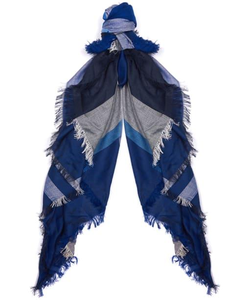Women's Barbour Summer Dress Tartan Square - Blue Tartan