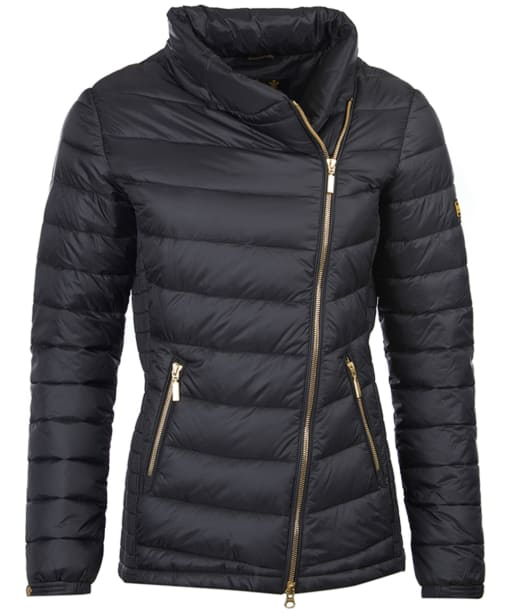 Women's Barbour International Jurby Quilted Jacket - Black