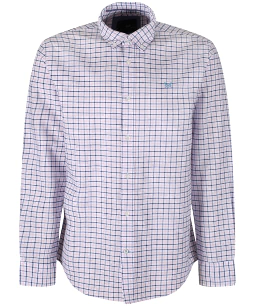 Men's Crew Clothing Moreton Classic Shirt - Classic Pink / Ultramarine