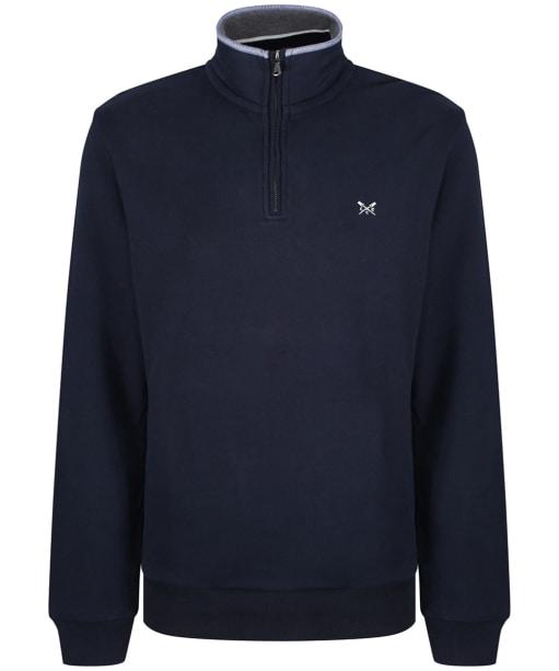 Men's Crew Clothing Half Zip Sweater - Dark Navy