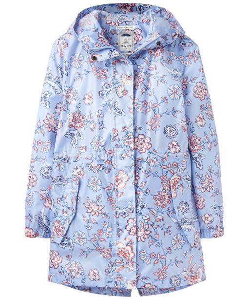 Women's Joules Golightly Waterproof Packaway Jacket - Blue Indienne Floral