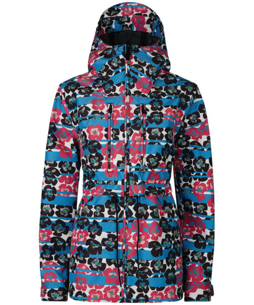 Women's Hunter Original Short 3 Layer Anorak - Floral Stripe