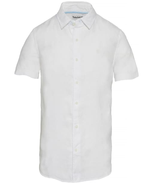 Men's Timberland Mill River Linen Shirt - White Heather