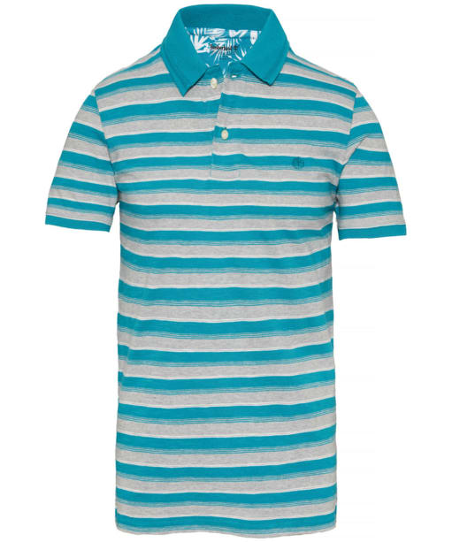 Men's Timberland Kennebec River Striped Jersey Polo Shirt - Harbour Blue