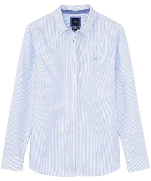 Women's Crew Clothing Classic Striped Shirt - Blue / White