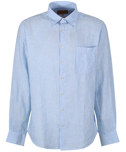 Men's Schoffel Thornham Shirt - White / Blue Stripe