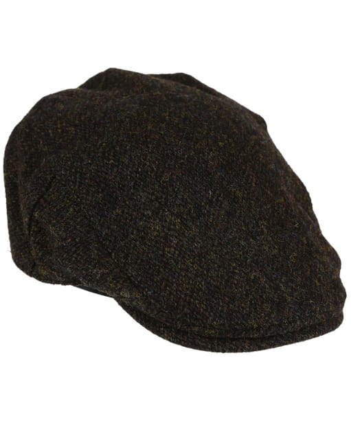 Heather Highland Harris Tweed Flat Cap - Brown Barleycorn
