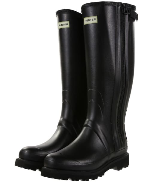 Men's Hunter Field Commando Full Zip Wellington Boots - Black