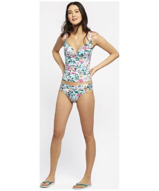 Women's Joules Belle Bikini Briefs - Pale Green Secret Garden