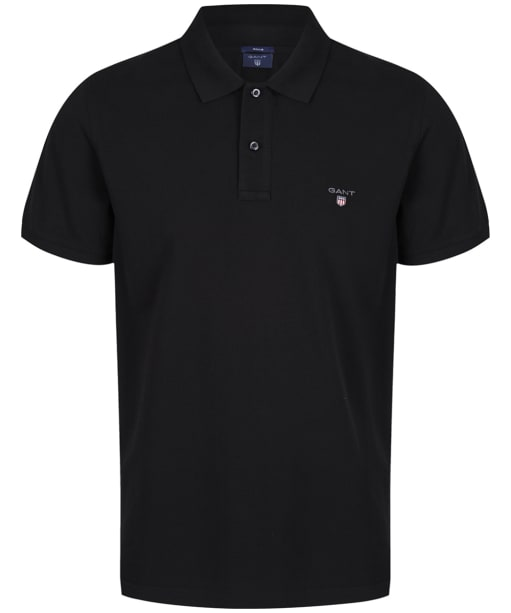 Men's GANT the Original Pique Rugger Polo Shirt - Black