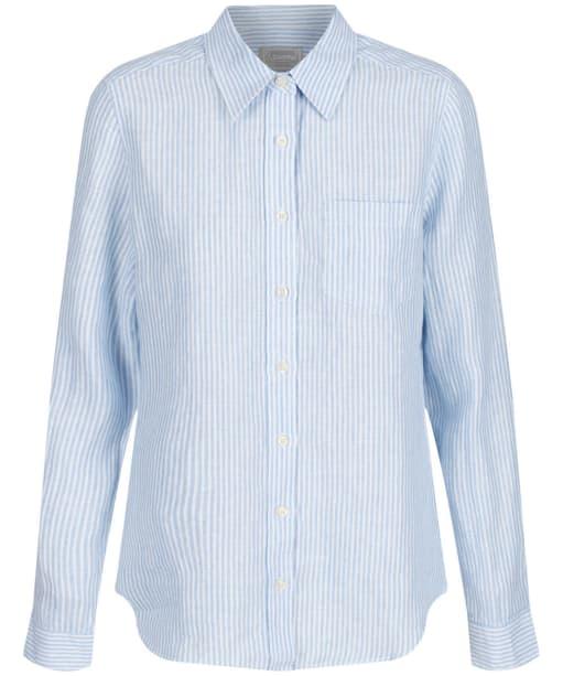 Women's Schöffel Saunton Shirt - White / Blue Stripe