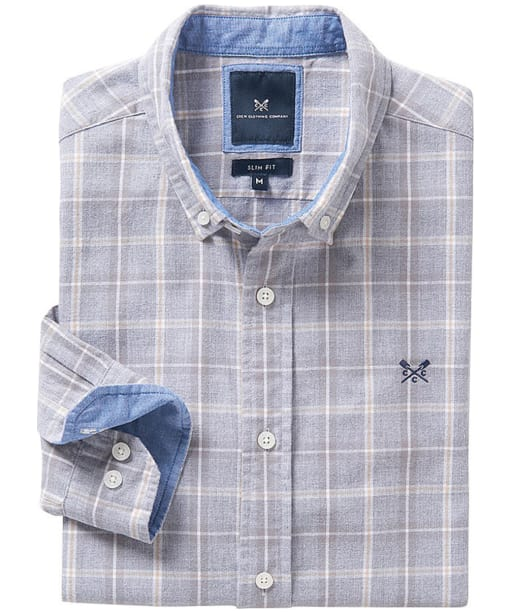Men's Crew Clothing Anderby Slim Check Shirt - Steel Grey