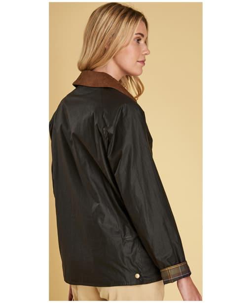 Women's Barbour Lightweight Acorn Wax Jacket - Dark Olive