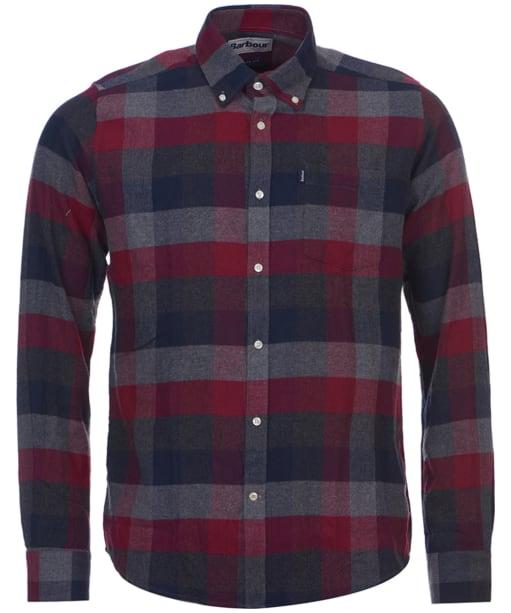 Men's Barbour Angus Check Shirt - Grey Marl Check