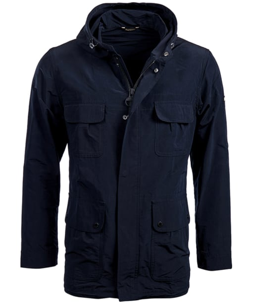 Men's Barbour International Pack Fishtail Parka Jacket - Black