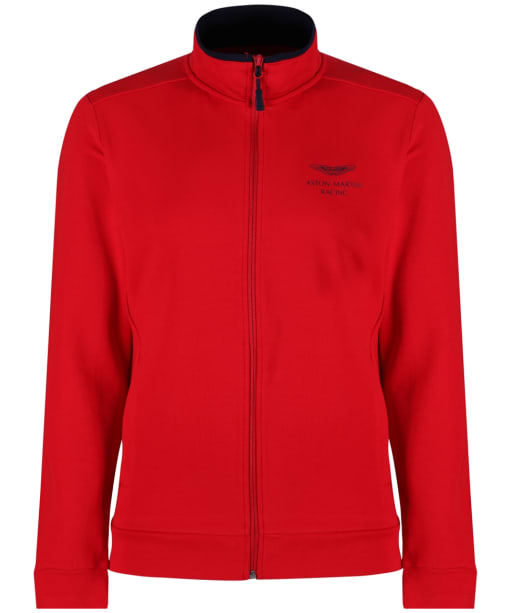 Men's Hackett Aston Martin Racing Sweater Jacket - Bright Red