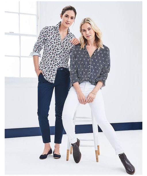 Women's Crew Clothing Agnes Print Shirt - Full model shot