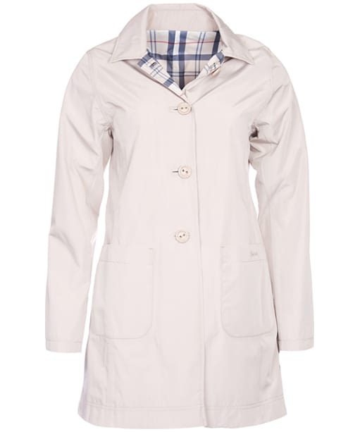 Women's Barbour Waterproof Reversible Derby Mac Jacket - Alabaster