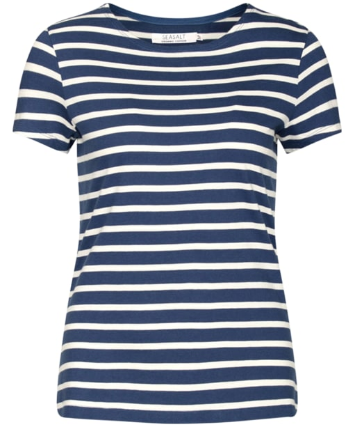Women's Seasalt Sailor T-Shirt - Breton Ecru Night