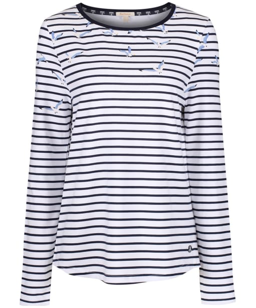 Women's Barbour Faeroe Top - White / Navy
