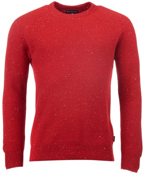 Men's Barbour Auskerry Crew Neck Sweater - Lobster Red