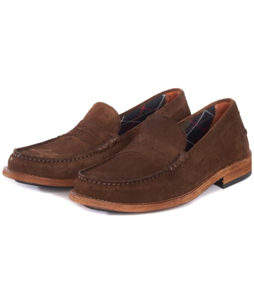 Men's Barbour Wylam Loafers - Tobacco
