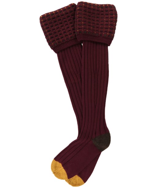 Men's Pennine Ambassador Shooting Socks - Burgundy