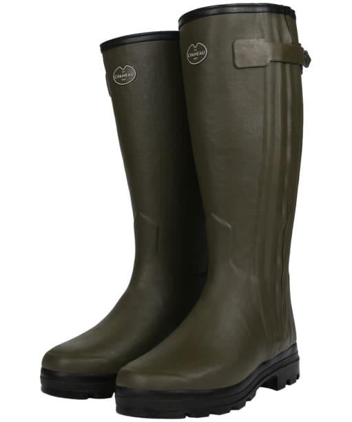 Men's Le Chameau Chasseur Fourree Wellington Boots – 44cm calf - Vert Chameau