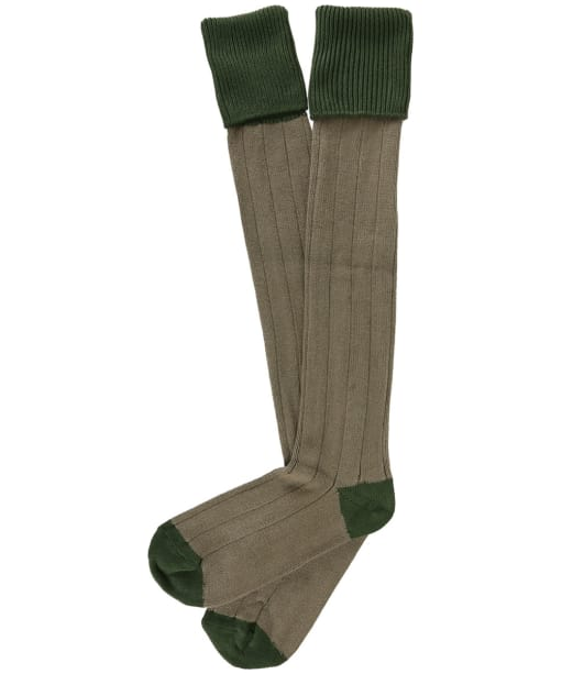 Men's Pennine Pembroke Shooting Socks - Moss